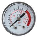 0-170 PSI Black Round Plastic Shell Number Display Air Pressure Compressor Gauge