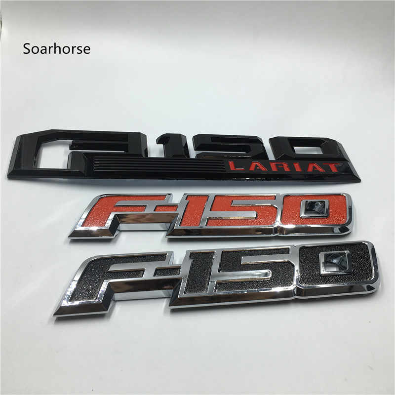 Soarhorse新しい用2009-2014フォードf150 f-テールゲートトランクエンブレム銘板デカールラリアットプラチナ