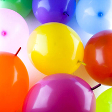 100PCS Wedding Party Supplies Color Assorted 12inch Random Send Birthday Link Balloon Tail Balloons Decorations