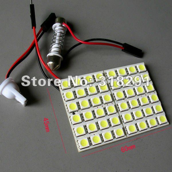 panel led lamp 48 smd interior room dome door car light bulb with 2 defferent