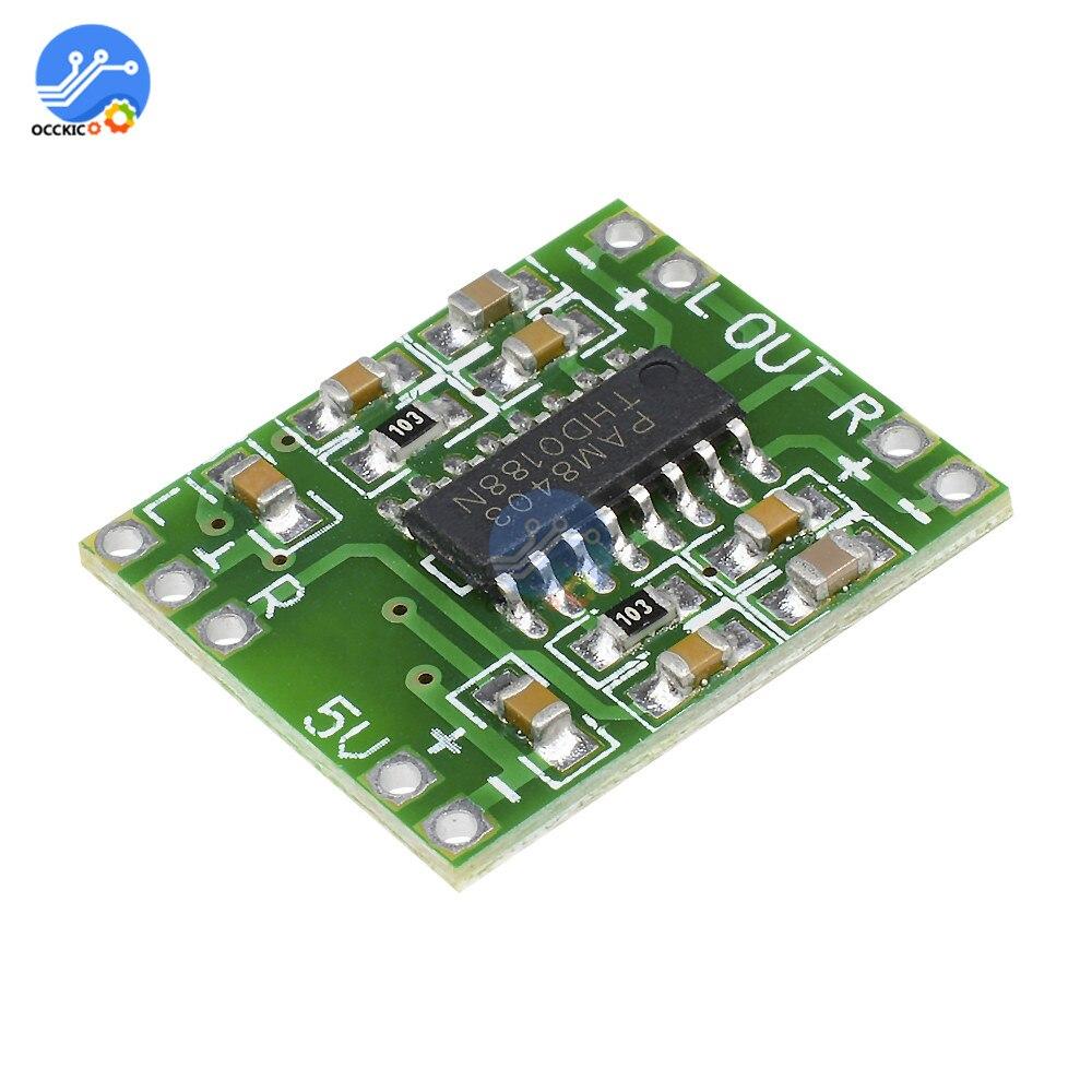 Mini PAM8403 2*3W Digital Amplifier Board Class D Audio Speaker Sound Board 2.5V To 5V Modulo Amplificador