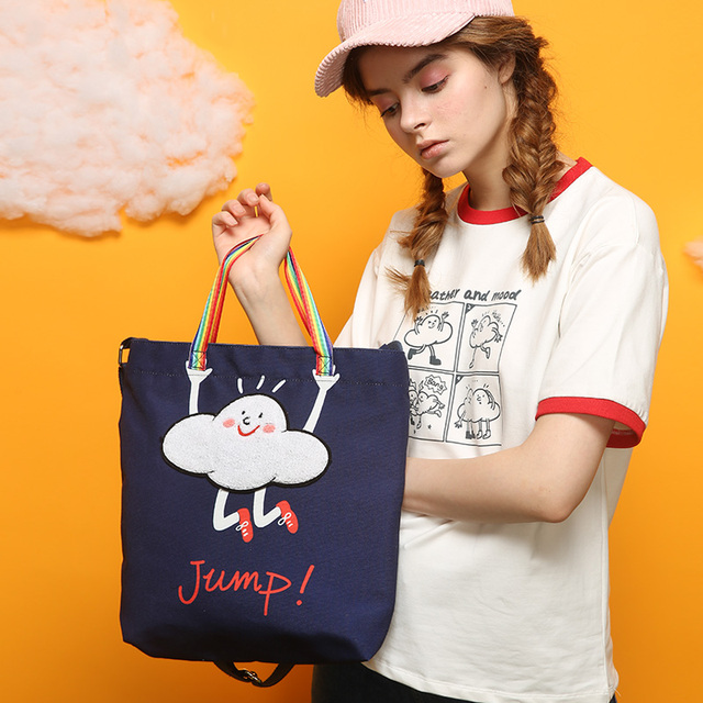 Laura preppy style messenger bag one shoulder bag canvas HARAJUKU street trend of the messenger bag female