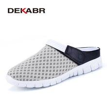 DEKABR Brand 2019 Summer Mesh Breathable Men Sandals Unisex Couple Models Light