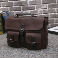Pu Leather Bag Men Leather Briefcase 15 Laptop Multi Function Business Tote Handbags Shoulder Bags Portable