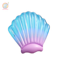 Giant inflatable Gradient scallop clam shell pool float swimming circle Air Mattress water toys for child adult kid beach party