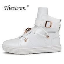 f2a9714e98 Nueva llegada Martens botas hombres blanco rojo hombres zapatos de Skate  Top alta calidad impermeable antideslizante