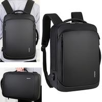 Laptop Business Mens Backpack Notebook Student School Backpacking Male USB Charging Waterproof Backpacks Smart Travel Bags Pack