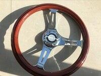 universal 330mm 33CM 13 INCH Wood Phoebe steering wheel racing steering wheel three racing Phoebe black line