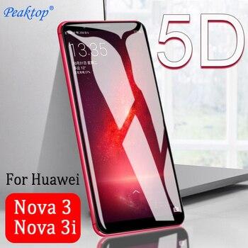 Перейти на Алиэкспресс и купить 2 шт. 5D полное покрытие защитное стекло для Huawei Nova 3 3i Защитное стекло для экрана nova3 nova3i 3 i закаленное стекло 9H защитная пленка