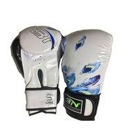 BN 10/12OZ Feather Printed MMA Sparring Muay Thai Boxing Gloves Women Men Martial Arts Sanda Mitts Combat Gear DDO