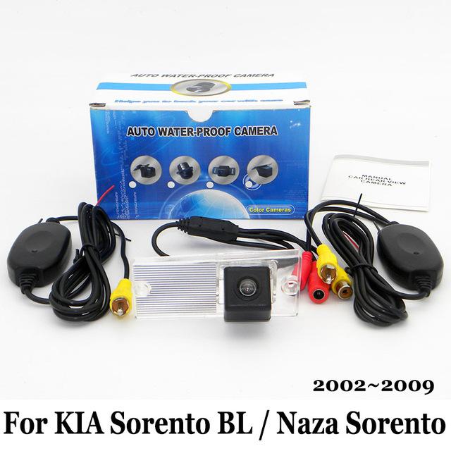 Câmera De Estacionamento Para KIA Sorento BL/Naza Sorento 2002 ~ 2009/Fio Ou Sem Fio RCA AUX/HD Visão CCD Noite câmera de Visão Traseira câmera