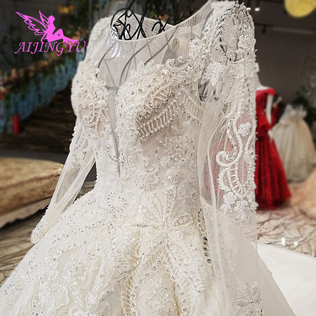 AIJINGYU Sexy Short Wedding Dress Sequin Ball Gown Bridal Shops Ivory Spanish Plus Size Gown Wedding Store