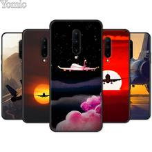Silicone Cover Shell for Oneplus 7 7 Pro 6 6T 5T Black Case for Oneplus 7 7Pro Soft Phone Case Fighter aircraft