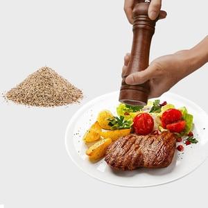 Image 2 - 요리사 요리 오크 우드 페퍼 그라인더 자연 내구성 핸드 회전 운동 그라인더 도구 주방 악세사리