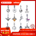 Venta caliente de 100% de Plata de Ley 925 colgante de plata encanto pendientes Fit Original collar de pulsera auténtica joyería de perlas regalo de mamá