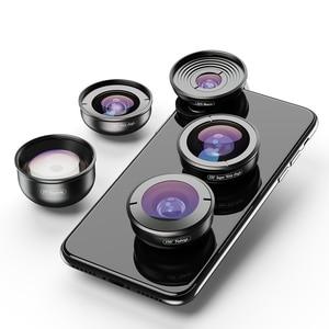 Image 2 - APEXEL 5in1 Kit de lentilles de téléphone portable Pro photographie HD Fisheye lentille de télescope Macro Super grand Angle pour Samsung iPhone Xs xiaomi