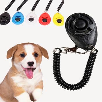 Pet szkolenia psów narzędzie regulowany dźwięk 1 sztuk Pet Dog Clicker breloczek pasek na rękę lekki pies pociąg kliknij trwałe tanie i dobre opinie wu fang Szkolenia Clickers Other