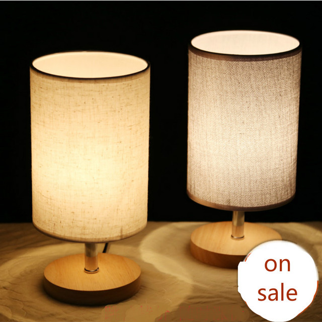 Modern fashion simple 5 colors fabric wood led e27 dimmer table modern fashion simple 5 colors fabric wood led e27 dimmer table lamp for bedroom bedside bar mozeypictures Images