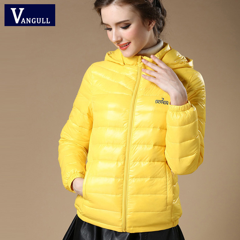 VANGULL 2019 Winter Autumn Women 90% White Duck Down Jacket Women Hooded Light Down Jackets Warm Winter Coat   Parkas   female coats