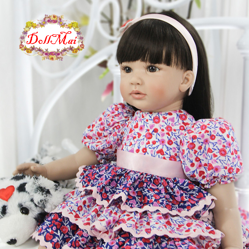 Real alive Bebes reborn princess girl toddler silicone reborn baby dolls toys 2460cm child gift toy dolls reborn Real alive Bebes reborn princess girl toddler silicone reborn baby dolls toys 2460cm child gift toy dolls reborn