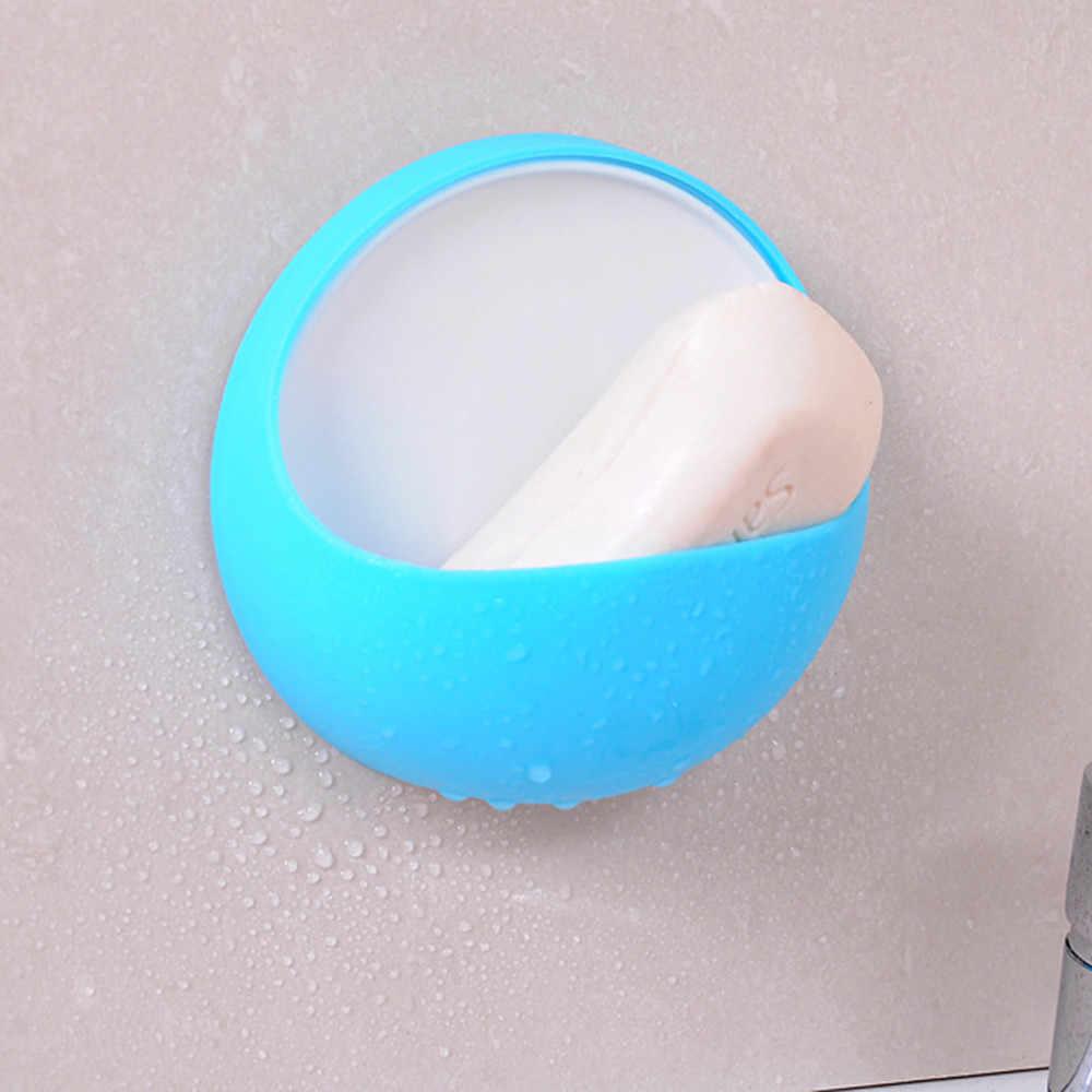新資格ドロップシッププラスチック吸引カップ石鹸歯ブラシボックス皿ホルダー浴室のシャワーアクセサリー 3.13