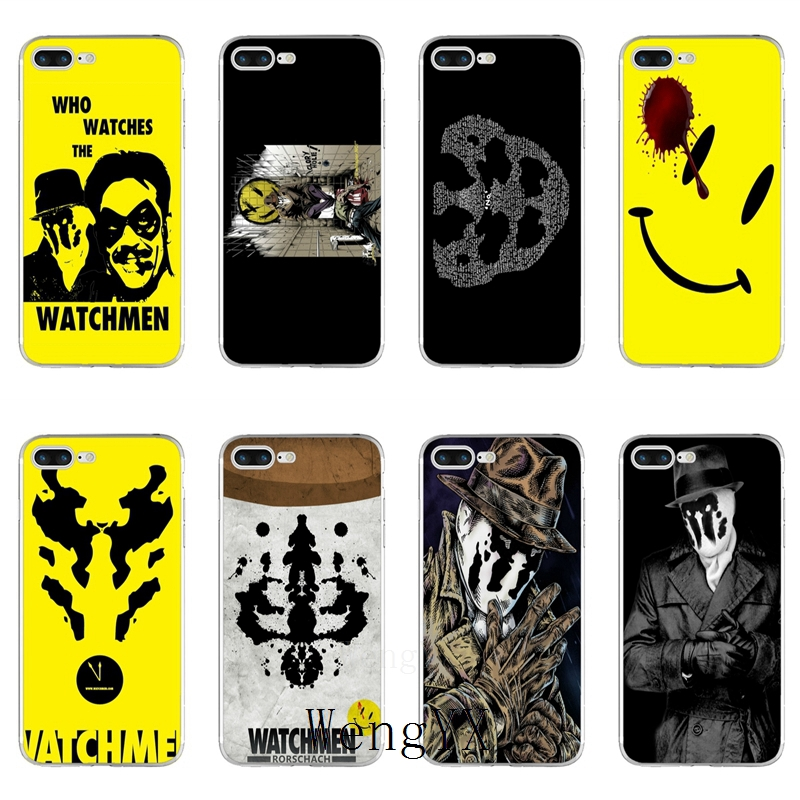 Who <font><b>Watches</b></font> The Rorschach Watchmen Slim silicone TPU Soft phone case For <font><b>Huawei</b></font> P7 P8 P9 P10 <font><b>P20</b></font> <font><b>pro</b></font> Lite plus P <font><b>Smart</b></font> Mini 2017 image
