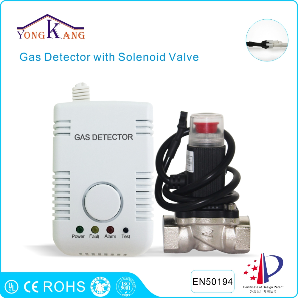 ФОТО Yongkang LPG Natural Gas Leak Detector Alarm With DN15 Solenoid Valve for Pipeline Shut Off