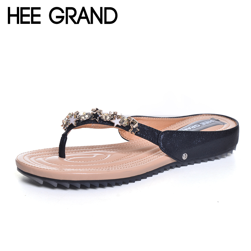 HEE GRAND Glitter Flip Flops Platform Slides Gold Comfort Casual Shoes Woman Summer Bling Bling Creepers Slip On Flats XWZ4417 hee grand flowers creepers pearl glitter flats shoes woman pink loafers comfort slip on casual women shoes size 35 43 xwc1112