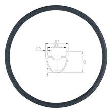 280g 29er MTB XC 27 millimetri cerchio in carbonio per copertoncino tubeless 25 millimetri in profondità UD opaco lucido 24H 28H 32H 29in ruota di mountain bike