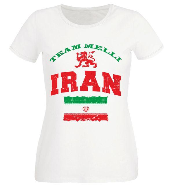 3b8e0431d 2018 Fashion Hot sale Ladies T-Shirt Iran White Footballer Team Women s  Tees Tee shirt
