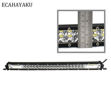 Ecahayaku Tipis 20 Inch Bar Lampu LED Intensitas Tinggi 180W 6000K Putih Mid-Net Bagasi Rack Light untuk SUV 4X4 ATV Off Road Truk(China)
