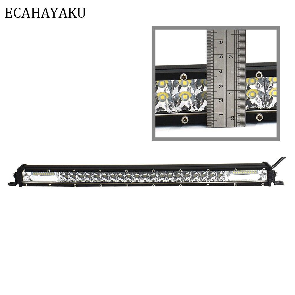ECAHAYAKU haute intensité 180 W 6000 K blanc mince 20 pouces lumière LED Bar mi-net porte-bagages lumière pour SUV 4X4 ATV hors route camions