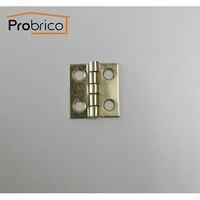 probrico золотой отделкой шкатулка петли 18 мм * 19 мм матовая латунь небольшие коробки на петлях ch34bb