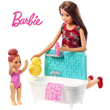 Original Barbie Dolls Baby sitter bath Assortment Fashionista Girl Kids Birthday Gift Doll bonecas toys for girls Fashion
