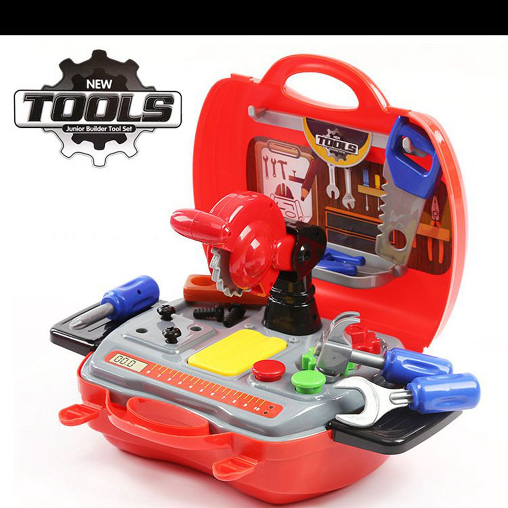 Construction Play Toys : Set simulation builders role play tool kit children kids