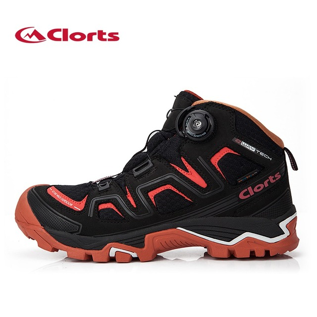 Clorts Mid-cut Nubuck Hiking Boots Waterproof BOA Closure Mountaineering Snow Boots for Men Breathable Hiking Shoes 3B016