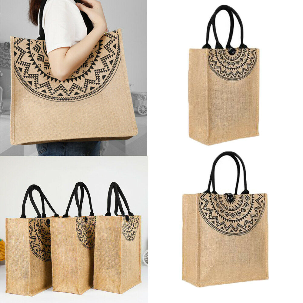 2019 Newest Hot Foldable Shopping Handbags Grocery Bags Large Capacity Reusable Jute Bags Supermarket Shopping Bags