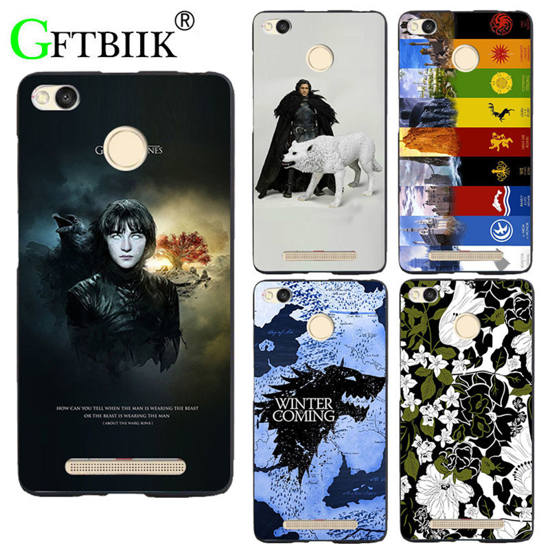 For Game Of Thrones 7 Case For Xiaomi Redmi 3X 5.0 Cover Hard Plastic Printed Phone Back Shell Football Case