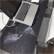 400*800*2mm Keyboard Mat Mousepad World Map Pattern Gaming Computer Mouse Keyboard Rubber Mat Pad Black