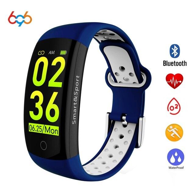 696 Q6S Smart Bracelet HR Fitness Tracker Wristband SleepTracker Waterproof IP68 Activity Tracker Smart band for Android IOS