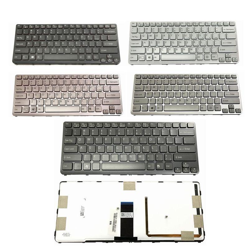 GZEELE US Backlit New Laptop Keyboard For Sony VAIO SVE 14 SVE14 SVS14 SVE14A SVE14AG Backlit Keyboard 149009711US 9Z.N6BBF.C01
