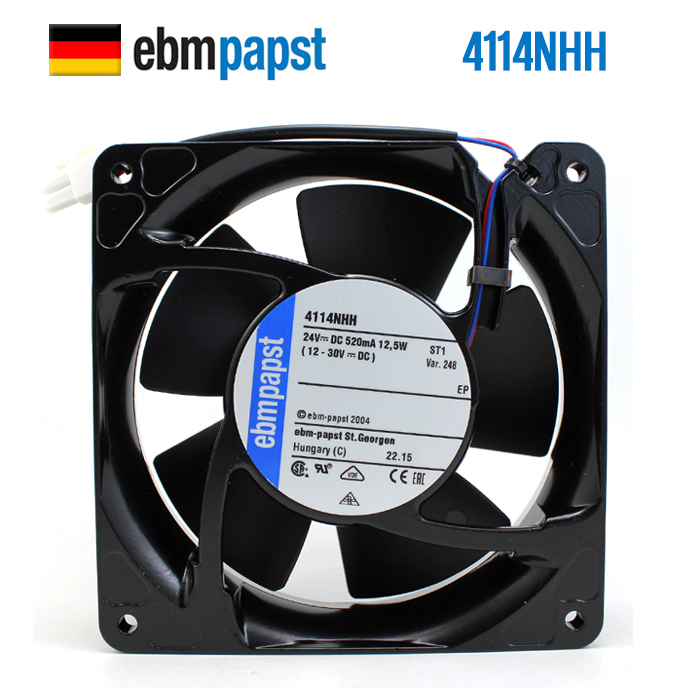 NEW ebmpapst PAPST 4114NHH 12038 24V 0.52A Axial frequency cooling fanNEW ebmpapst PAPST 4114NHH 12038 24V 0.52A Axial frequency cooling fan