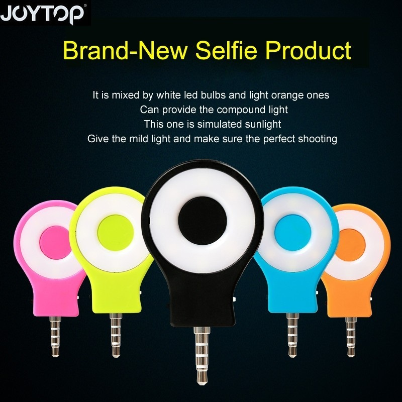 Selfie Flash Light Retina Night Using Selfie Enhancing Flash light Portable for iPhone Android smartphone with 3.5mm Jack Plug