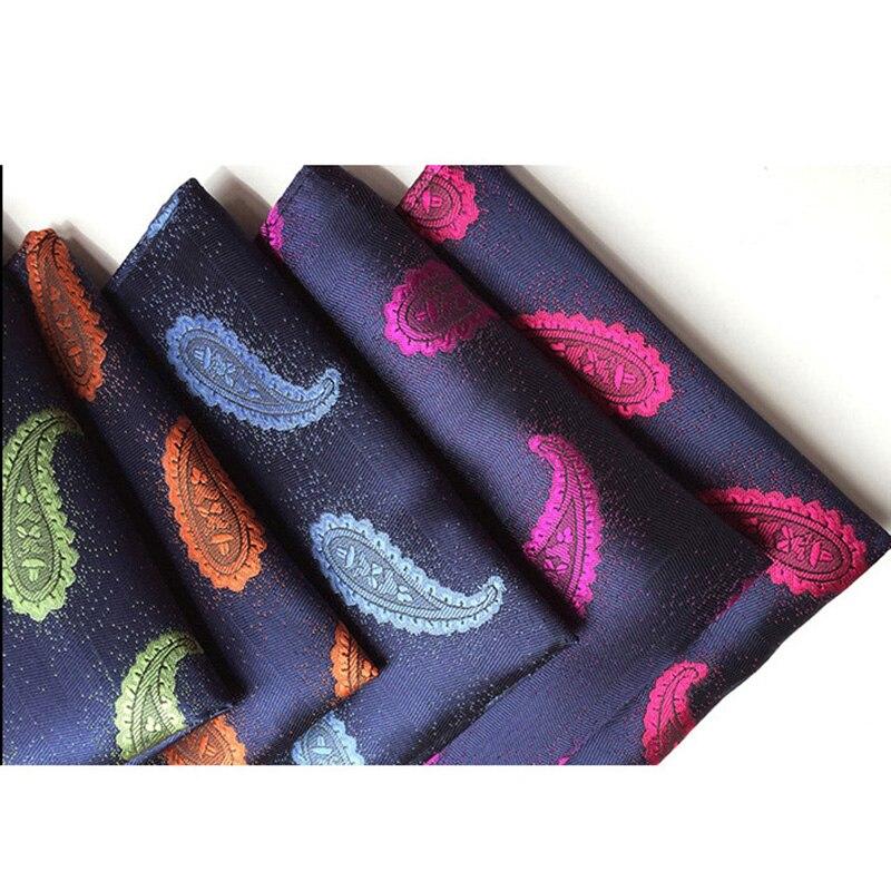 RBOCOTT Men's Pocket Squares Fashion Paisley Handkerchief For Men Business Wedding Party Suit 25cm*25cm Size