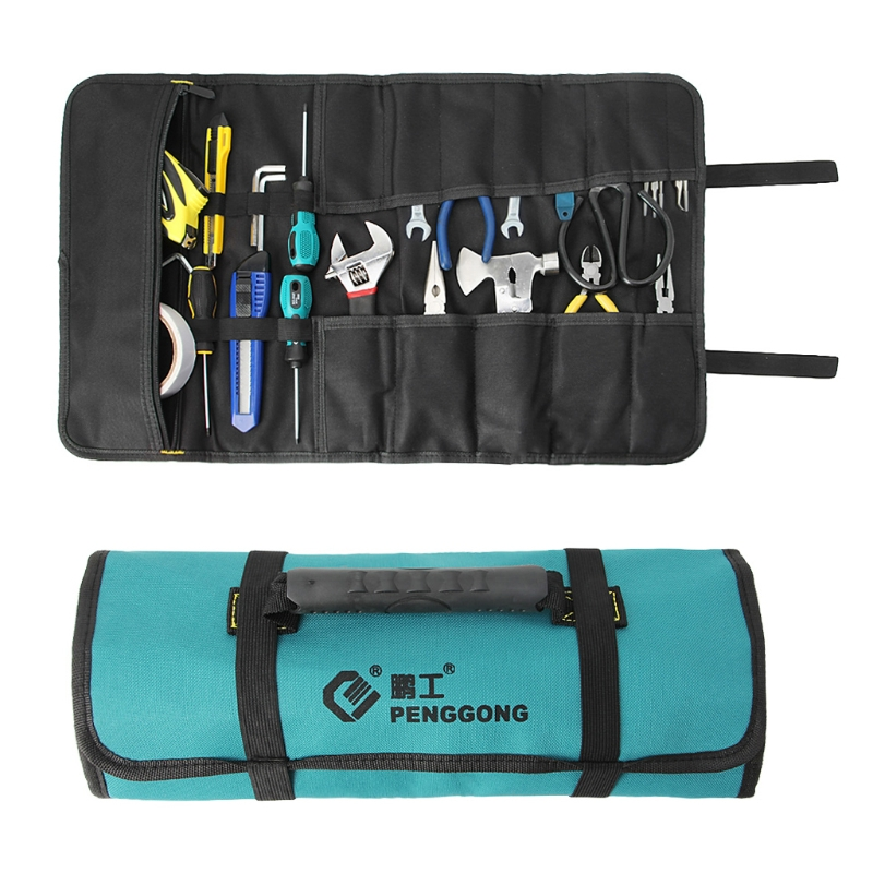 1Pc Reel Rolling Storage Tools Bag Pouch MultiPurpose Oxford Waterproof With Handles
