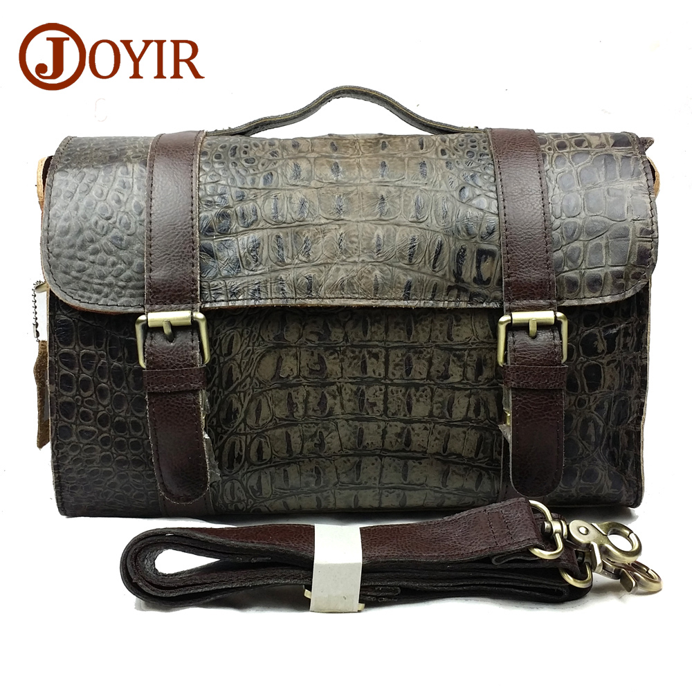 JOYIR Alligator Designer Men Messenger Bags Men Genuine Leather High Quality Crossbody Bags Handbags for Male Shoulder bag 8117 men crossbody bag messenger shoulder handbags cowhide genuine leather casual business satchel mens bags for male high quality