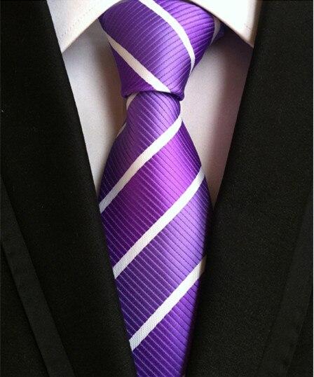 uusi muoti solmio miesten solmiot miehille vestido silkkiraita solmio - Vaatetustarvikkeet - Valokuva 3
