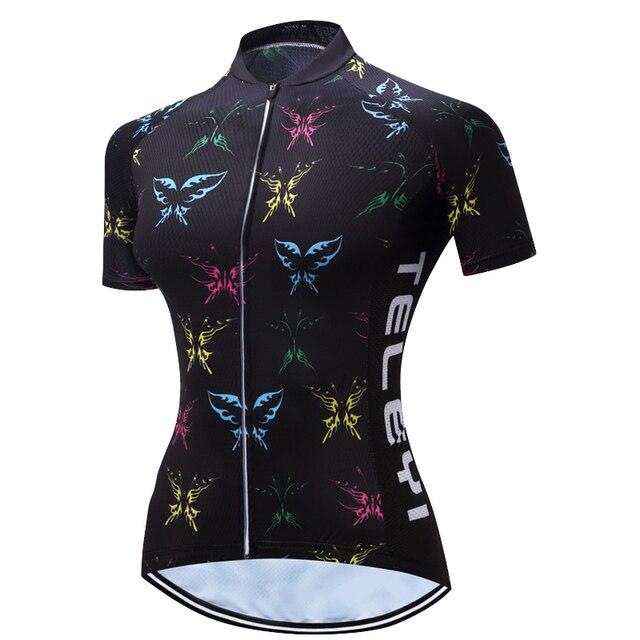 2017 Nova TELEYI mujer das mulheres roupas de ciclismo maillot ciclismo Bicicleta de Manga Curta verão mtb camisa de Ciclismo bib curto set 2
