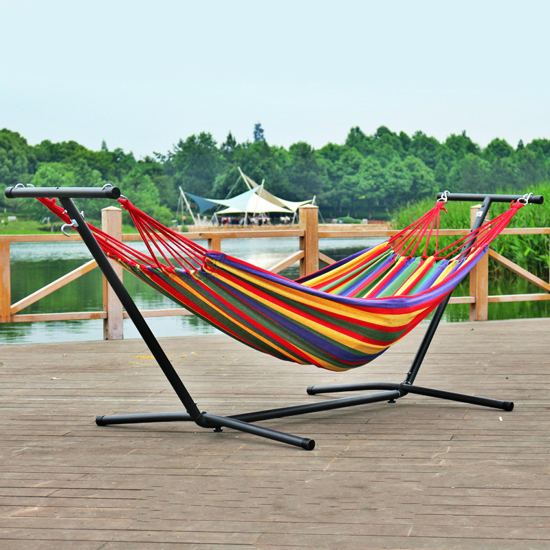 Double-head Outdoor Anti-rollover Hammock Chair Indoor Balcony Swing Removable Enlarge Widen Canvas Hanging Chair Garden Swing garden swing for children baby inflatable hammock hanging swing chair kids indoor outdoor pod swing seat sets c036 free shipping