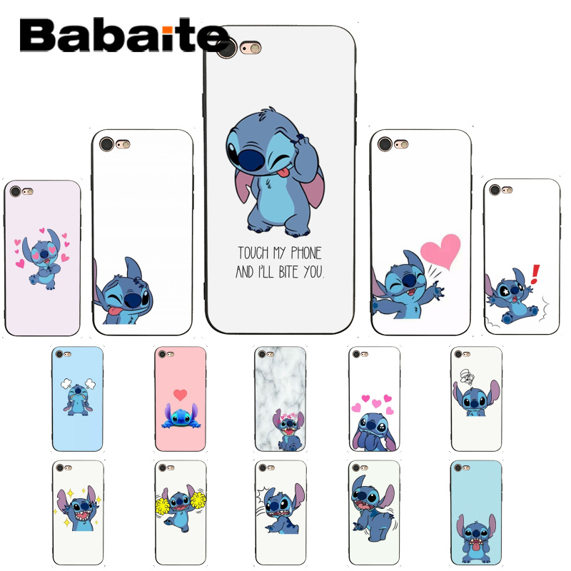 Babaite cute stich fashion cartoon cute newly pattern <font><b>PhoneCase</b></font> for iPhoneX XSMAX 6 6S 7 <font><b>7plus</b></font> 8 8Plus 5 5S XR 11 11pro 11promax image